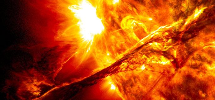 Solar outburst.